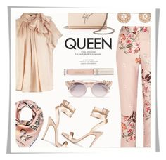 """Queen!"" by rasa-j ❤ liked on Polyvore featuring River Island, Jimmy Choo, Giuseppe Zanotti, Chanel, Stila, Longchamp and womensFashion"