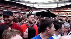 Green Day @ Emirates Stadium - Crowd singing along to Bohemian Rhapsody. 01.06.13 - YouTube