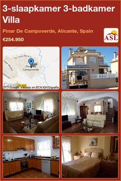 3-bed 3-bath Villa in Pinar De Campoverde, Alicante, Spain ►€254,950 #PropertyForSaleInSpain