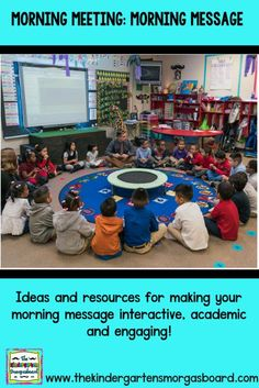 Morning Message In Your Morning Meeting. Ideas and tips for making your morning message interactive and engaging!