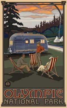 Northwest Art Mall x Poster Canyon Village Yellowstone by Paul A. Retro Poster, Old Poster, Poster Art, Vintage Travel Posters, Print Poster, Vintage Airstream, Vintage Travel Trailers, Vintage Campers, Canyon Village Yellowstone