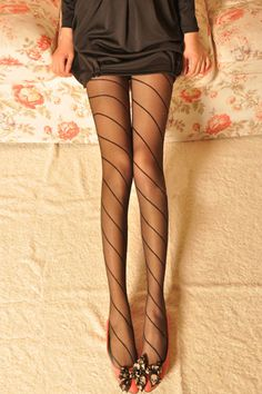 Ignore the weird camera angle, these tights are really cute!