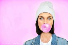Never grow up! #pink #session #bubble #gum #girl #polishgirl #pinkgirl #photography #photoshoot #colour #colourful #pinup #blueeyes…