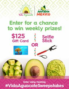 Sign-up for the Vida Aguacate Club by visiting www.VidaAguacate.com to receive exclusive offers and recipes! #vidaaguacatesweepstakes
