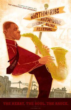 Thelonious Monk Retro 1949 Rockland Palace Harlem Jazz Concert Poster