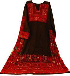 Tatreez (cross stitch) dress.