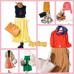 【Style Works】パーソナルカラー/メイク/骨格診断さんはInstagramを利用しています:「リクエストお応えしまして、次はスプリングさん🤗✨ 秋はSpringさんが得意な鮮やかカラーが少なくはなってきますが、スカートや小物などに1点華やかカラーを入れるだけで、全体のコーデが重くなり過ぎずバランスが取れますよ🤗✨…」