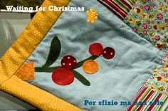 Per sfizio ma non solo: Cucito creativo - centro tavola natalizio patchwork con motivi appliquè