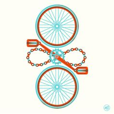 From here to Infinity #illustration #bicycle