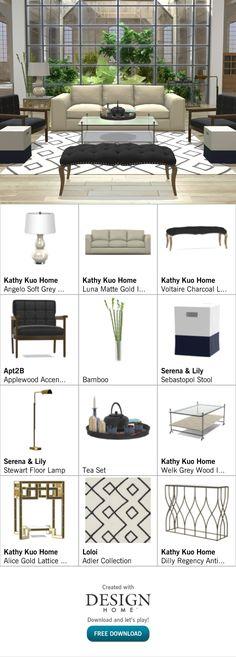 Created with Design Home! Outdoor Furniture Sets, Outdoor Decor, Grey Wood, Tea Set, Floor Lamp, Bamboo, House Design, Home Decor, Grey Hardwood