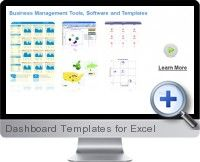 Plug and play dashboard #templates for #Excel are ideal for creating interactive business management reports.