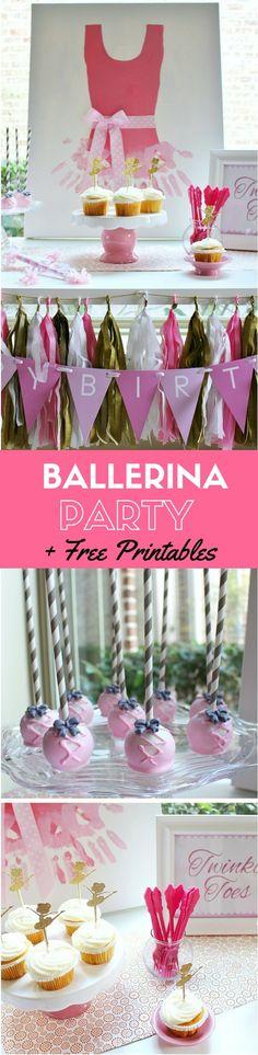 Budget-Friendly Ballerina Party Ideas +  Free Ballerina Printables | CatchMyParty.com