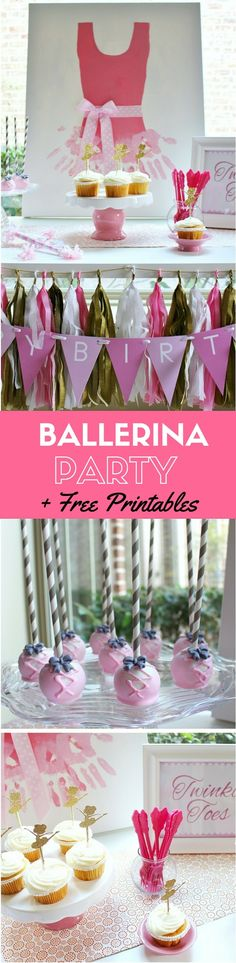Budget-Friendly Ballerina Party Ideas +  Free Ballerina Printables | CatchMyParty.com