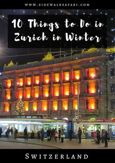 Find out about things to do in Zurich in winter. Learn about what to do in Zurich during the winter season. Explore Zurich in the winter. Discover what to eat and drink in Zurich in winter. Switzerland In Winter, Switzerland Vacation, Visit Switzerland, Oh The Places You'll Go, Cool Places To Visit, Europa Im Winter, Suiza Zurich, Hawaii Things To Do, Parks