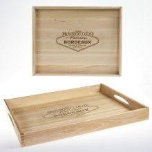 Idée cadeau fête des grands pères: Plateau en bois avec gravure personnalisée