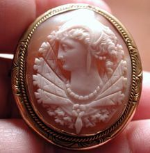 Fabulous and fancy Victorian cameo of a queen