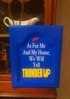 OKC Thunder Thunder Up sign by TheSignDivas on Etsy