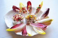 3分前菜(2種)をチコリーの器で。 by 青山清美(金魚) | レシピサイト「Nadia | ナディア」プロの料理を無料で検索