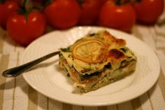 Lemon Spinach Lasagna, this looks so good! Lemon as an ingredient can do no wrong