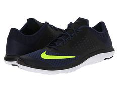 Nike FS Lite Run 2 Midnight Navy/Black/White/Volt - Zappos.com Free Shipping BOTH Ways