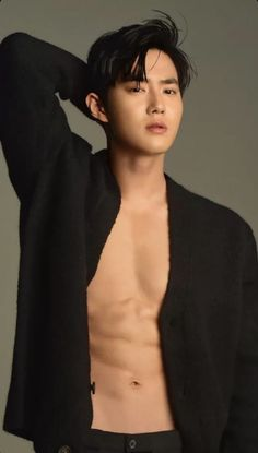 Image about exo in kim suho by aurovana on We Heart It Cute Asian Guys, Cute Korean Boys, K Pop, Men Abs, Kim Joon, Kim Junmyeon, Kpop Guys, Bts And Exo