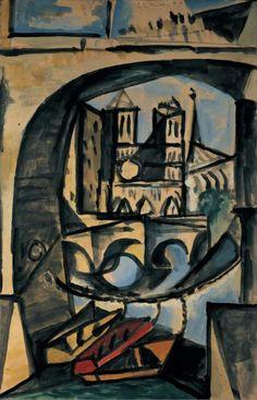 Pablo Picasso (1881 - 1973) Notre-Dame 1944 (50,5 x 32,4 cm)