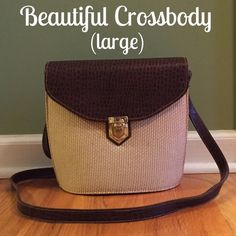 "Beautiful Crossbody Purse Excellent Condition!!!  Not 100% sure if leather but looks and smells of leather but cannot guarantee and the price reflects. Measures 11""x9""x5""(bottom). Strap is 48"" long. Beautiful Bag!!! Bags Crossbody Bags"