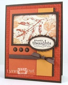 homemade fall cards | Visit thequeensscene.blogspot.com