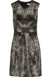 Yves Saint Laurent Metallic jacquard shift dress