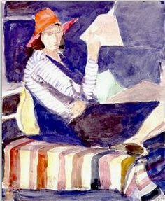 Richard Diebenkorn - Seated Woman, 1966. Watercolor and graphite on paper. Santa Cruz Island Foundation, Santa Barbara, CA, USA
