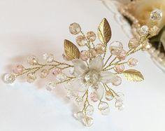 Bridal Hair Pin Wedding Hair Pins Pearl Hair Pin by FlowerRainbow