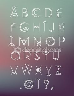 Vector geometric hipster modern creative font, abc, letters on blur background - stock vector Handwriting Alphabet, Hand Lettering Alphabet, Alphabet Design, Cursive, Types Of Lettering, Lettering Styles, Lettering Design, Letras Cool, Hipster Fonts