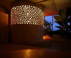 Ambient light in a cob home.