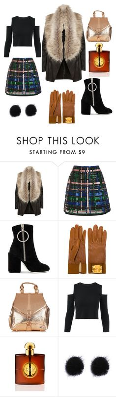 """""""Winter outfit"""" by lanaginta ❤ liked on Polyvore featuring River Island, Elie Saab, Off-White, Hermès and Yves Saint Laurent"""