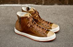 #Converse Chuck Taylor Hi Premium Zip Brown