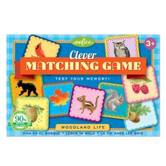 Woodland Life Clever Matching Game| eeBoo