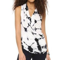 Young Fabulous and Broke tie-dye slinky top Slinky, tie dyed jersey composes this sleeveless Young Fabulous & Broke top, and a surplice neckline sweeps across the front. Fabric: Jersey. Shell: 95% modal/5% elastane. Young Fabulous & Broke Tops Blouses