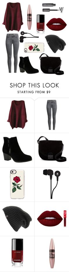"""""""Untitled #74"""" by eliinako ❤ liked on Polyvore featuring Skechers, Loeffler Randall, Casetify, Skullcandy, The North Face, Lime Crime, Chanel and Maybelline"""