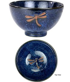 Midnight Dragonfly Soup Bowl from theanimalrescuesite.com