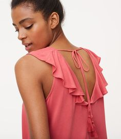 $39.50 Back ties cinch the deal for this fluttery top