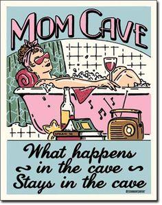 Retro Mom Cave - Sanctuary Tin Sign