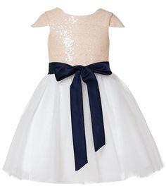 Amazon.com: Thstylee Sequin Tulle Cap Short Sleeve Flower Girl Dress Little Girl Toddler Dresses: Clothing