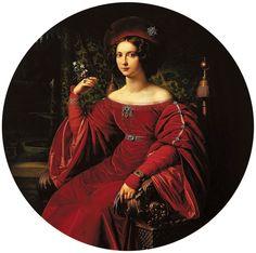 Portrait of Anna Elżbieta Raczyńska by Carl Wilhelm Wach, 1827 (PD-art/old), Muzeum Narodowe w Poznaniu (MNP)