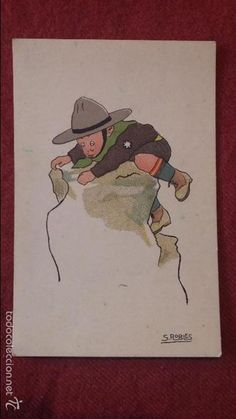 Postales: 2 TARJETAS POSTALES DE 1928 CON DIBUJO DE BOY SCOUTS - Foto 2…