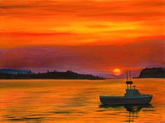 Sunset in Maine by Phillip Compton