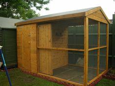 Wooden Bird Aviary
