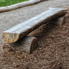 Age Group: All Ages Log Benches are a great addition to any playground. Please note that these benches weigh approximately 1000 lbs. Log Furniture, Outdoor Garden Furniture, Western Furniture, Furniture Design, Log Chairs, Log Benches, Park Benches, Garden Benches, Tree Logs