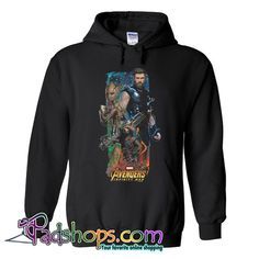 Avengers Infinity War Unisex Hoodie SL Hooded Sweatshirts, Hoodies, Avengers Infinity War, White Hoodie, Direct To Garment Printer, Unisex, Collection, Sweatshirts, Parka