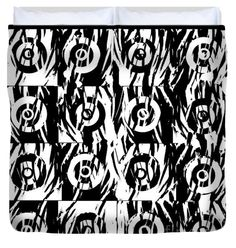 """Circle in the square King (104"""" x 88"""") Duvet Cover"""