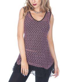 Look at this #zulilyfind! Pink Crocheted Lace Sleeveless Top #zulilyfinds  $19.99    4/9/14